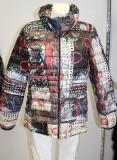 Dolcezza Jacke Farbe schwarz/beige/rot mit Muster Ringe