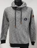 Cipo & Baxx Herren-Sweatshirt mit Kapuze CL-425 grey