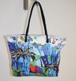 Shopper/Strandtasche Dolzecca blau/weiß/lila