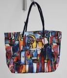 Shopper/Strandtasche Dolzecca rot/blau/bunt