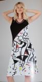 Dolcezza Kleid ohne Arm Farbe schwarz/weiß