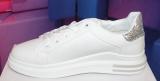 Damen-Low-Sneaker white silver