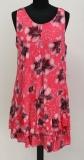Kleid ohne Arm Farbe korallenrot mit Blütenmuster
