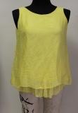 Seiden-Top Farbe gelb mit kleinen Pünktchen