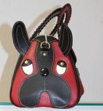 Tasche Hund schwarz/rot