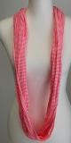 Tuch/Loop pink mit weißen Streifen