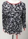 Shirt Unique Langarm schwarz/weiß
